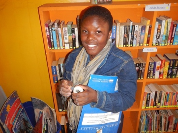 Sharon, a student leader from MCEDO